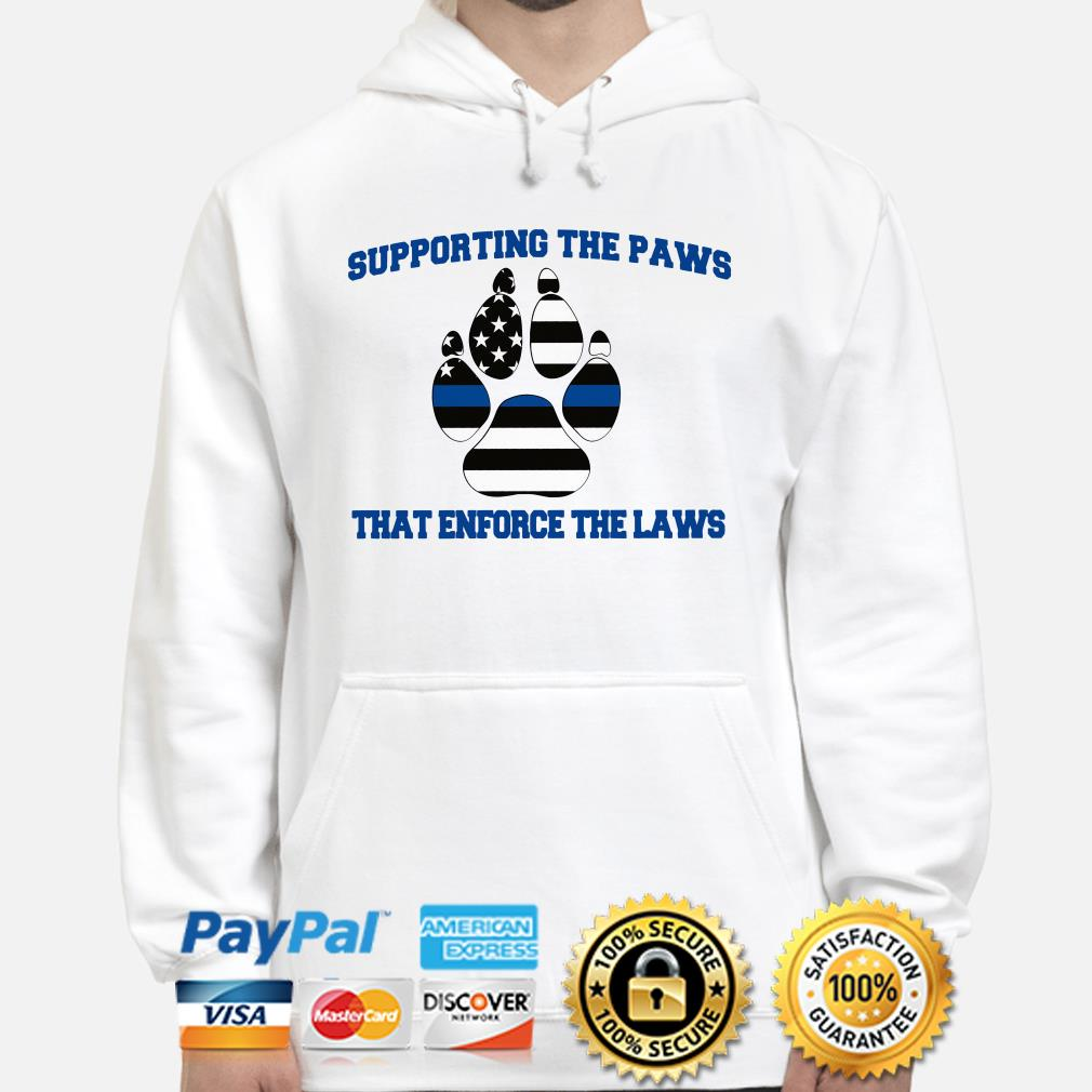 Supporting the Paws that enforce the laws USA flag Hoodie