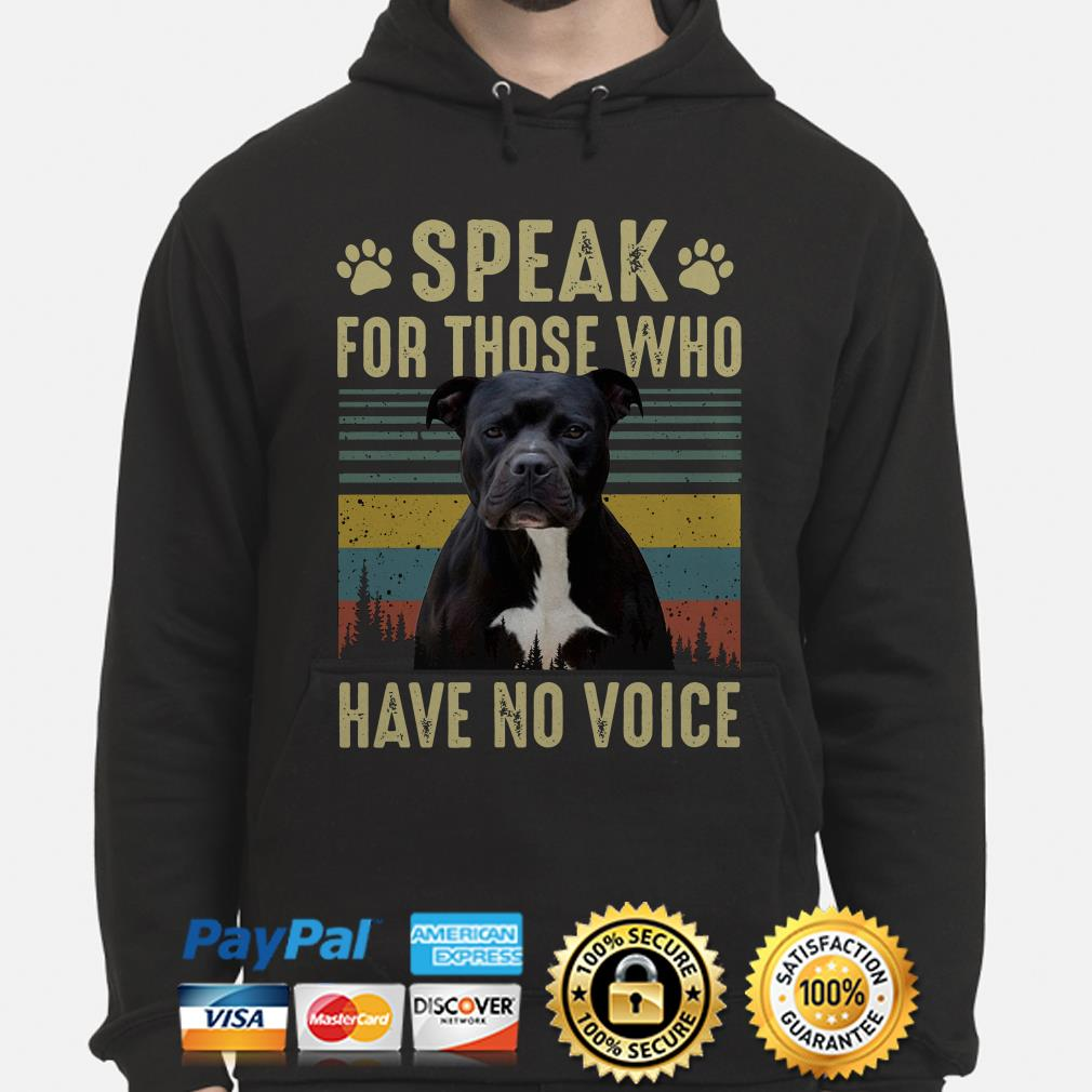 American Bully speak for those who have no voice vintage Hoodie
