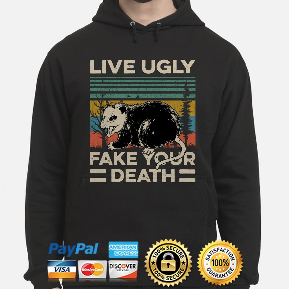 Opossum live ugly fake your death vintage Hoodie