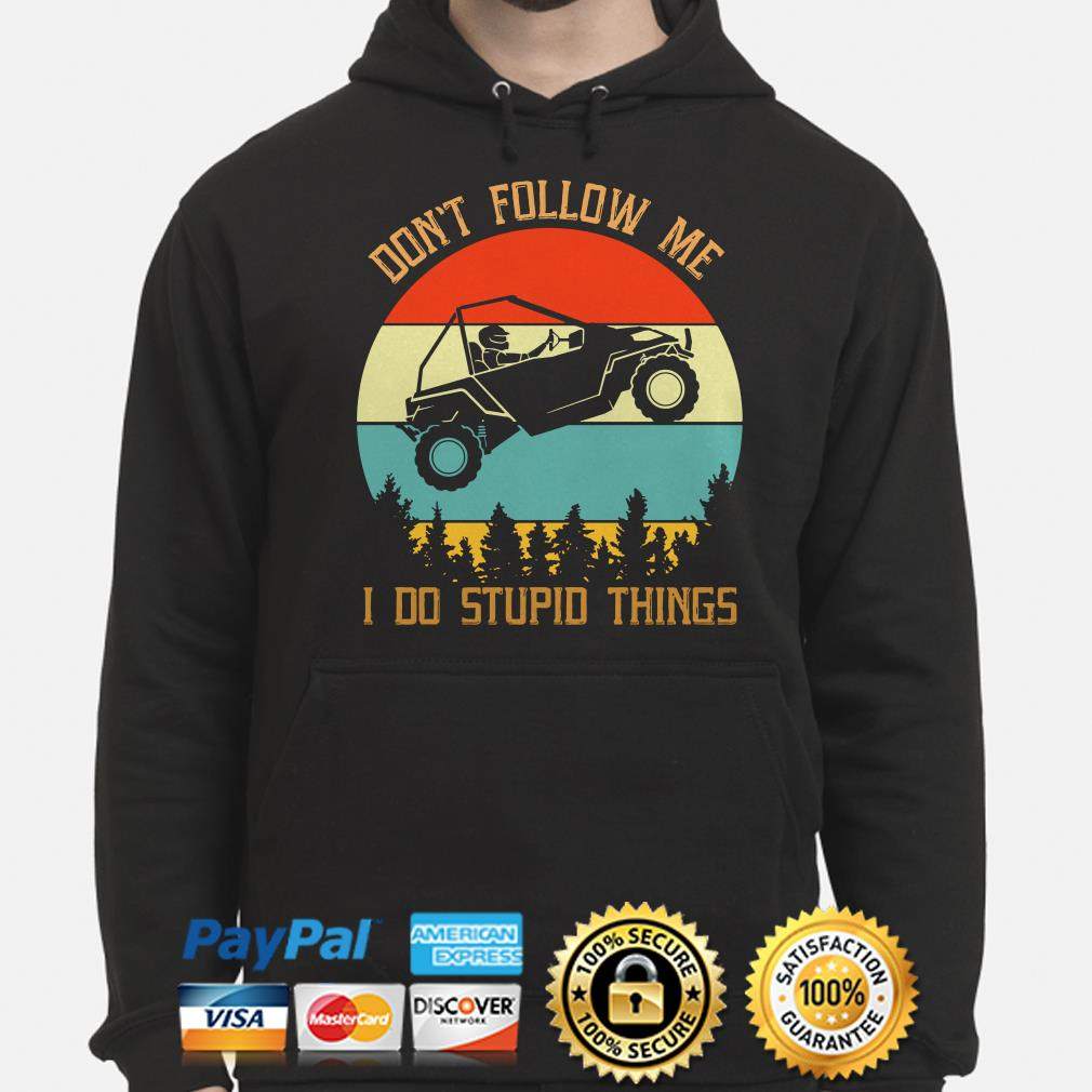 Easter Jeep safari don't follow me I do stupid things vintage Hoodie