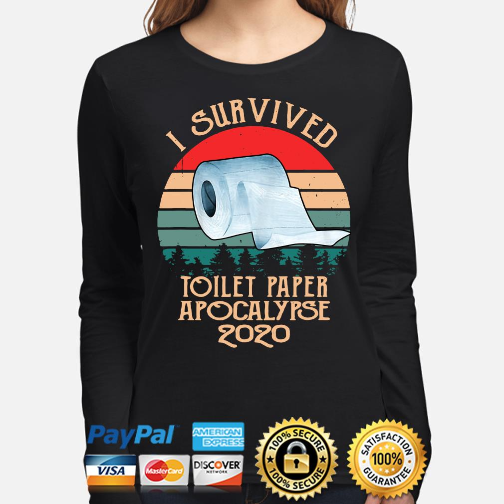 I survived toilet paper apocalypse 2020 vintage s long-sleeve