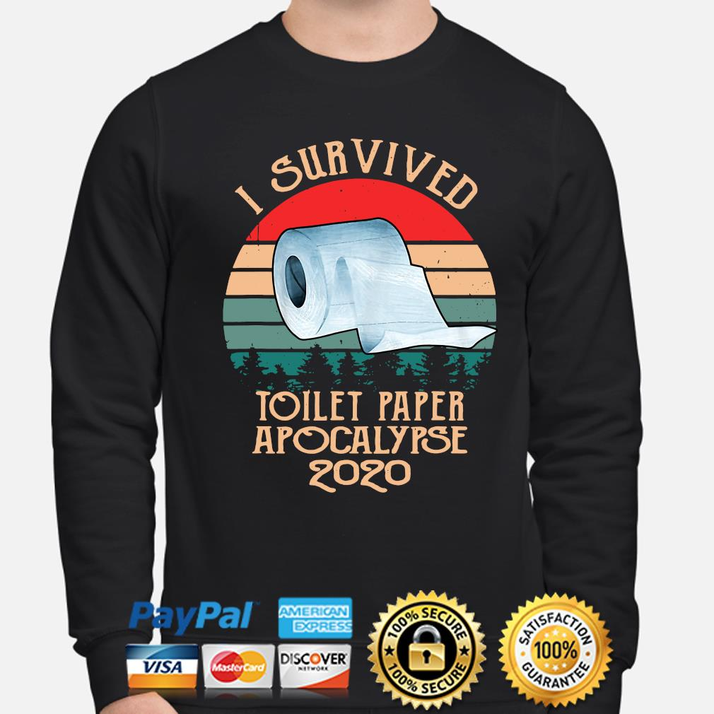 I survived toilet paper apocalypse 2020 vintage s sweater