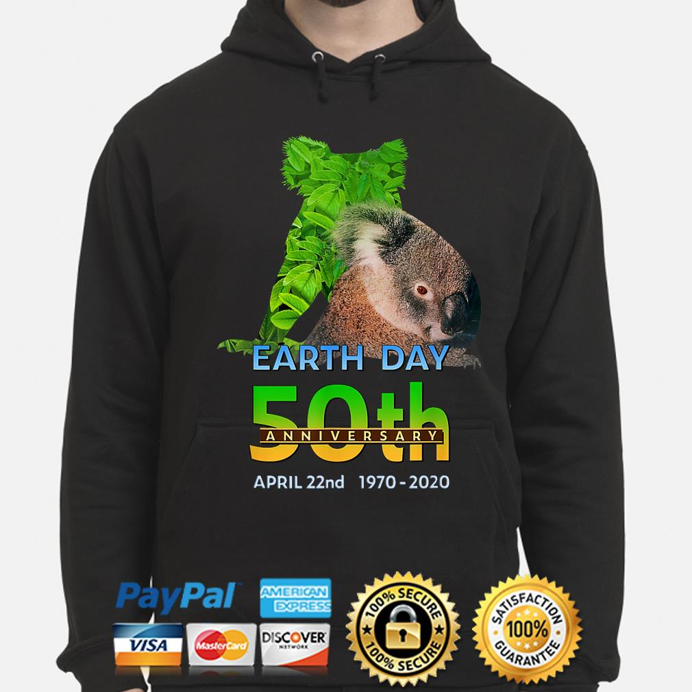 Koala bear earth day 50th anniversary April 22th 2020 s hoodie