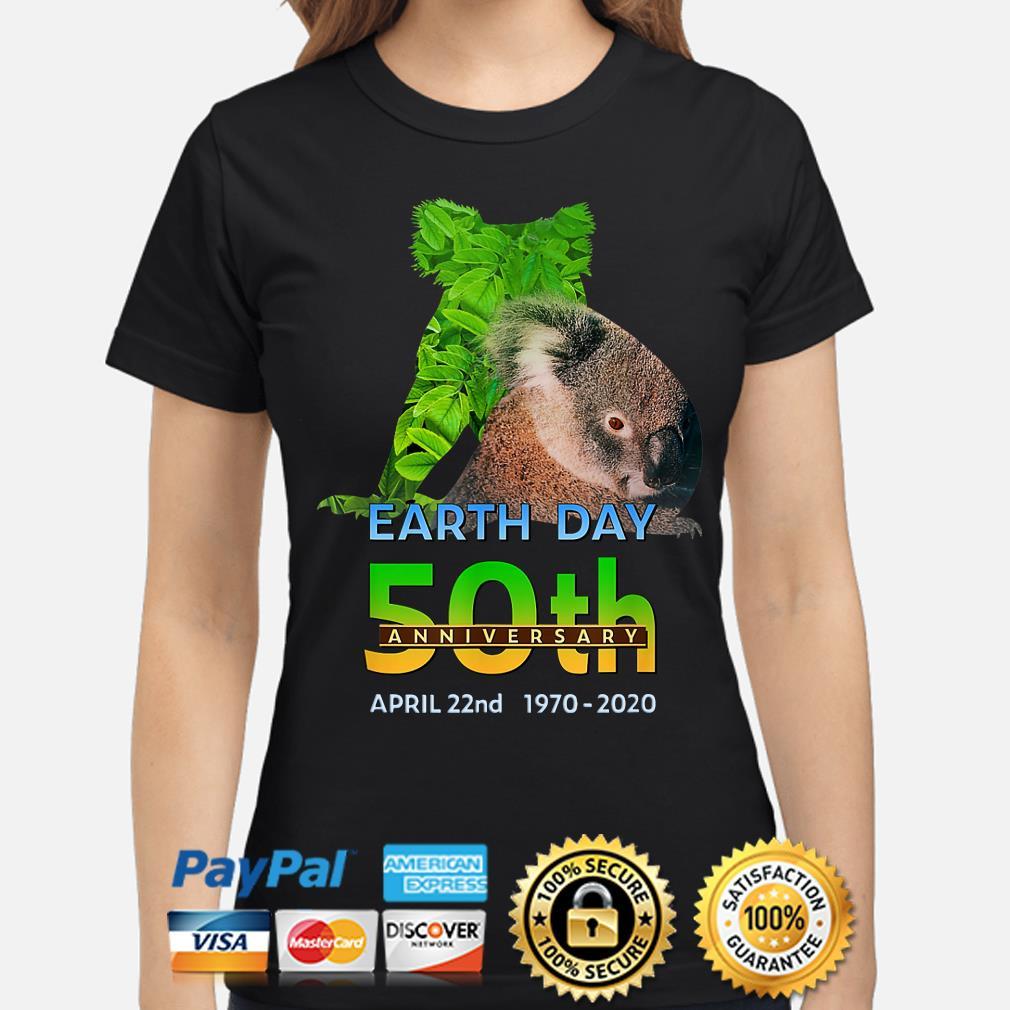 Koala bear earth day 50th anniversary April 22th 2020 s ladies-shirt