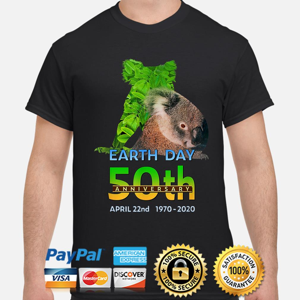 Koala bear earth day 50th anniversary April 22th 2020 shirt