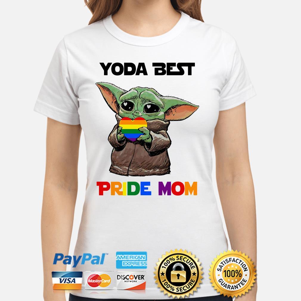 Baby Yoda best Pride mom Ladies shirt