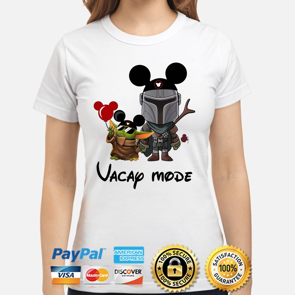 Mickey Baby yoda and Mandalorian Vacay mode Ladies shirt