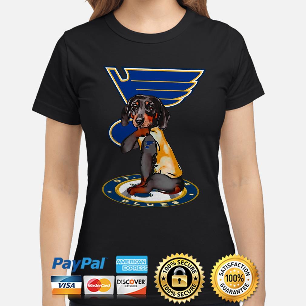 Tattoos Dachshund St Louis Blues Ladies shirt