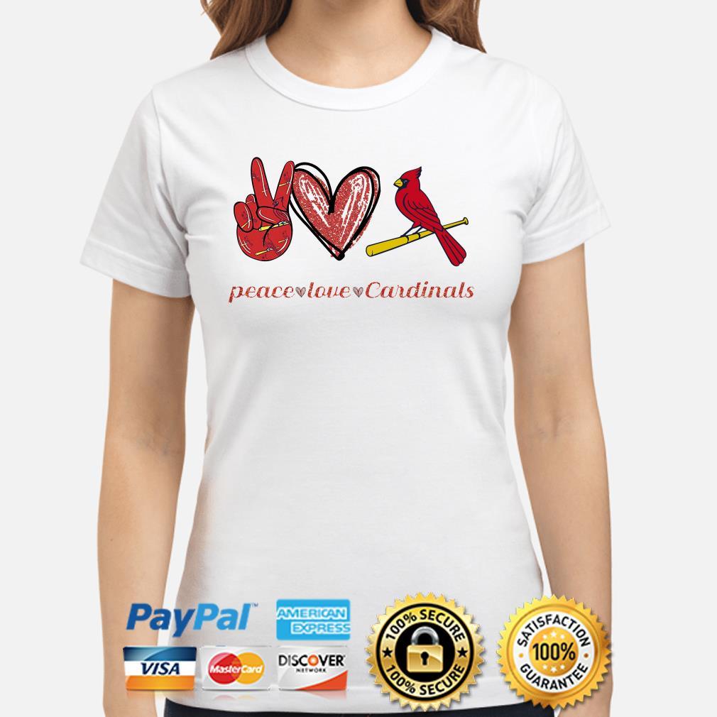 Peace love St Louis Cardinals Ladies shirt