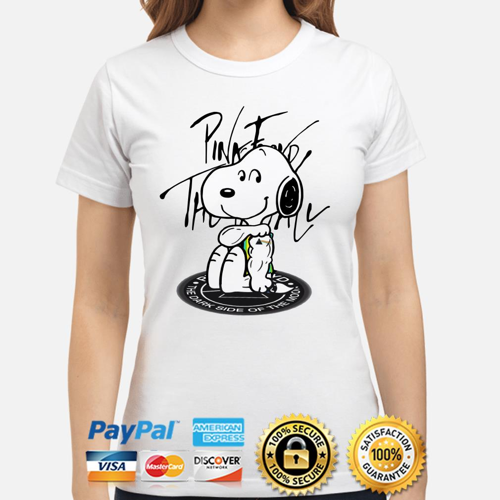 Tattoos Snoopy Pink Floyd the dark side of the moon Ladies shirt