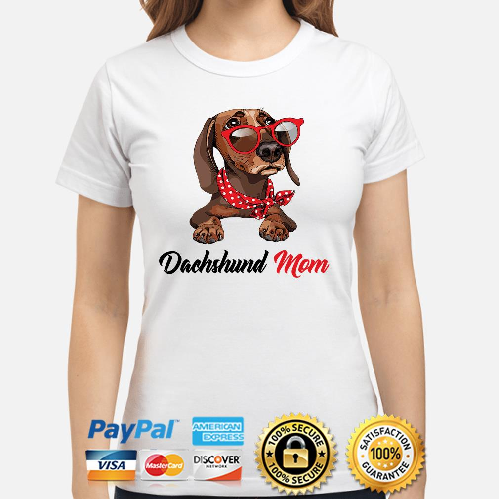 Dachshund mom bandana sunglass Ladies shirt