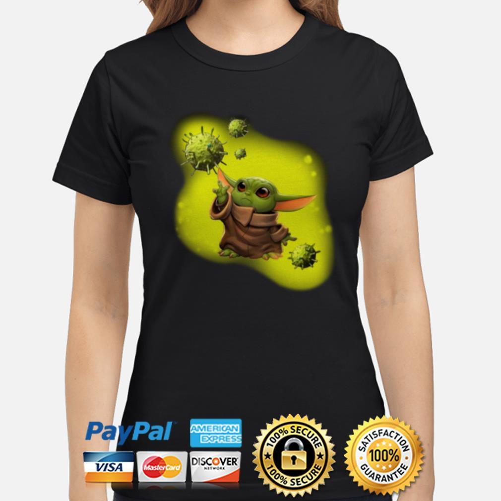 Baby Yoda against coronavirus Ladies shirt