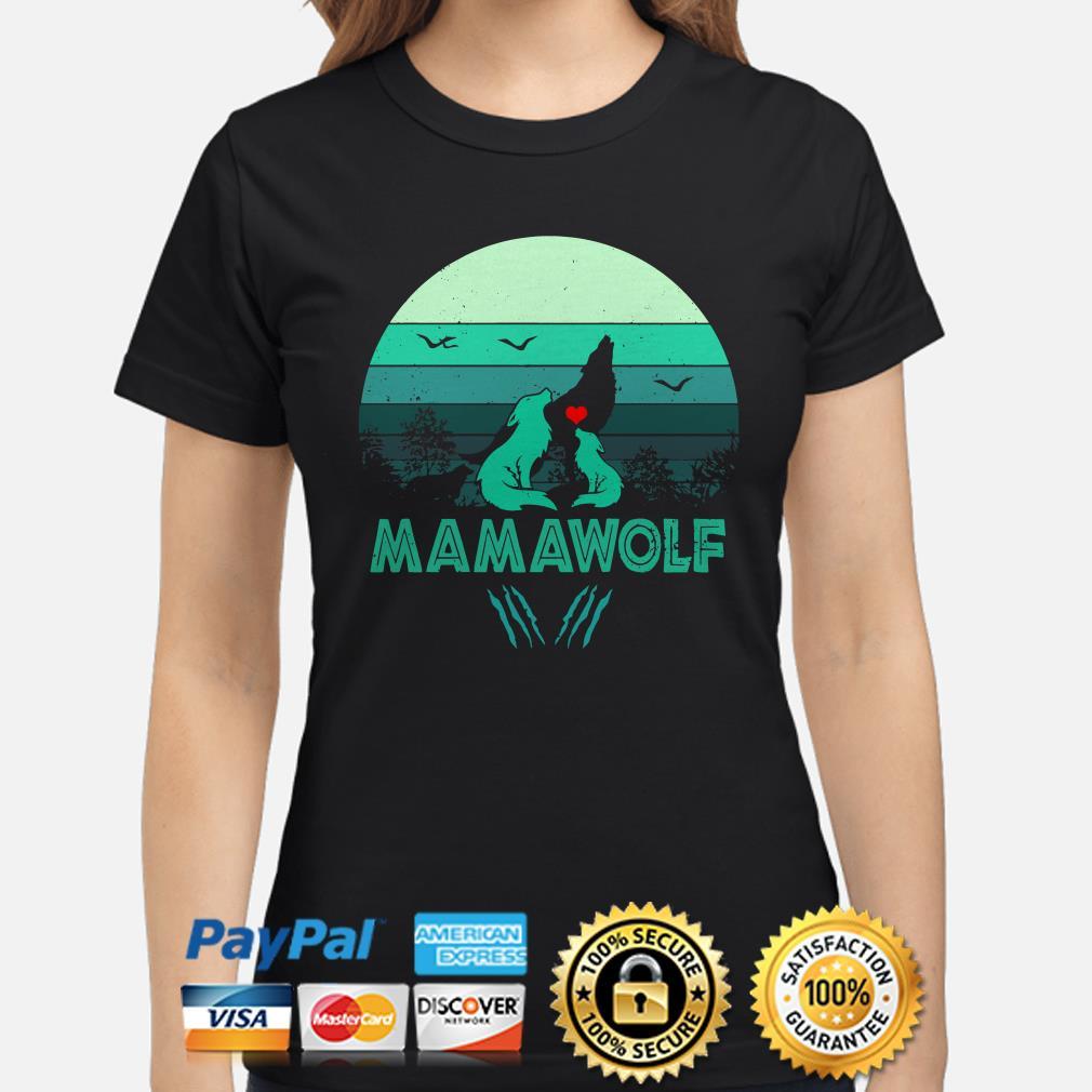 Mamawolf Vintage  Ladies shirt