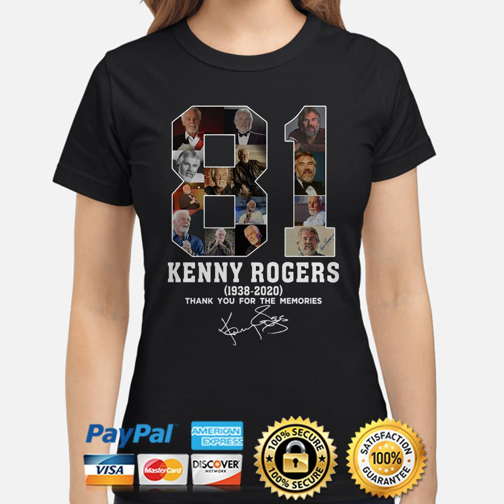 81 years of Kenny Rogers thank you for the memories signature Ladies shirt
