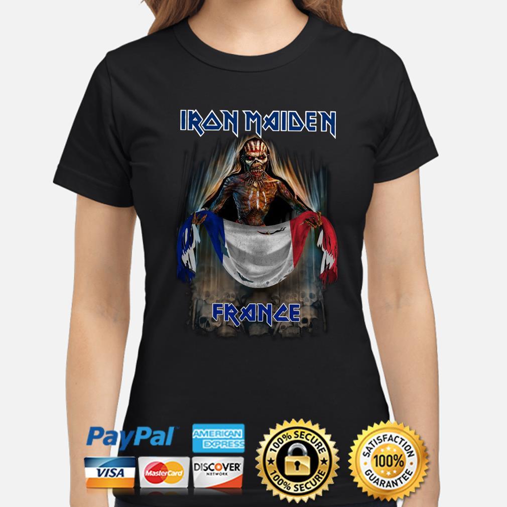 Iron Maiden France flag Ladies shirt