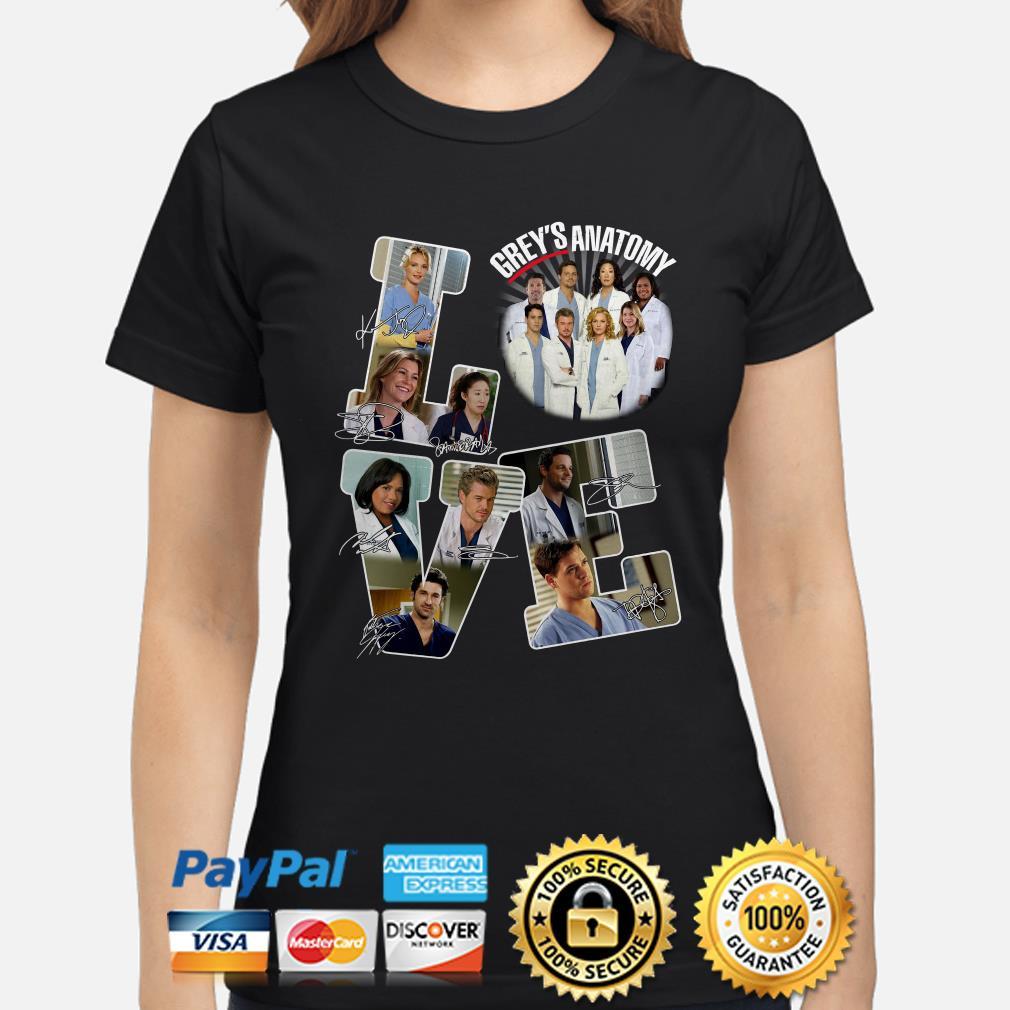 Love Grey's Anatomy signature Ladies shirt