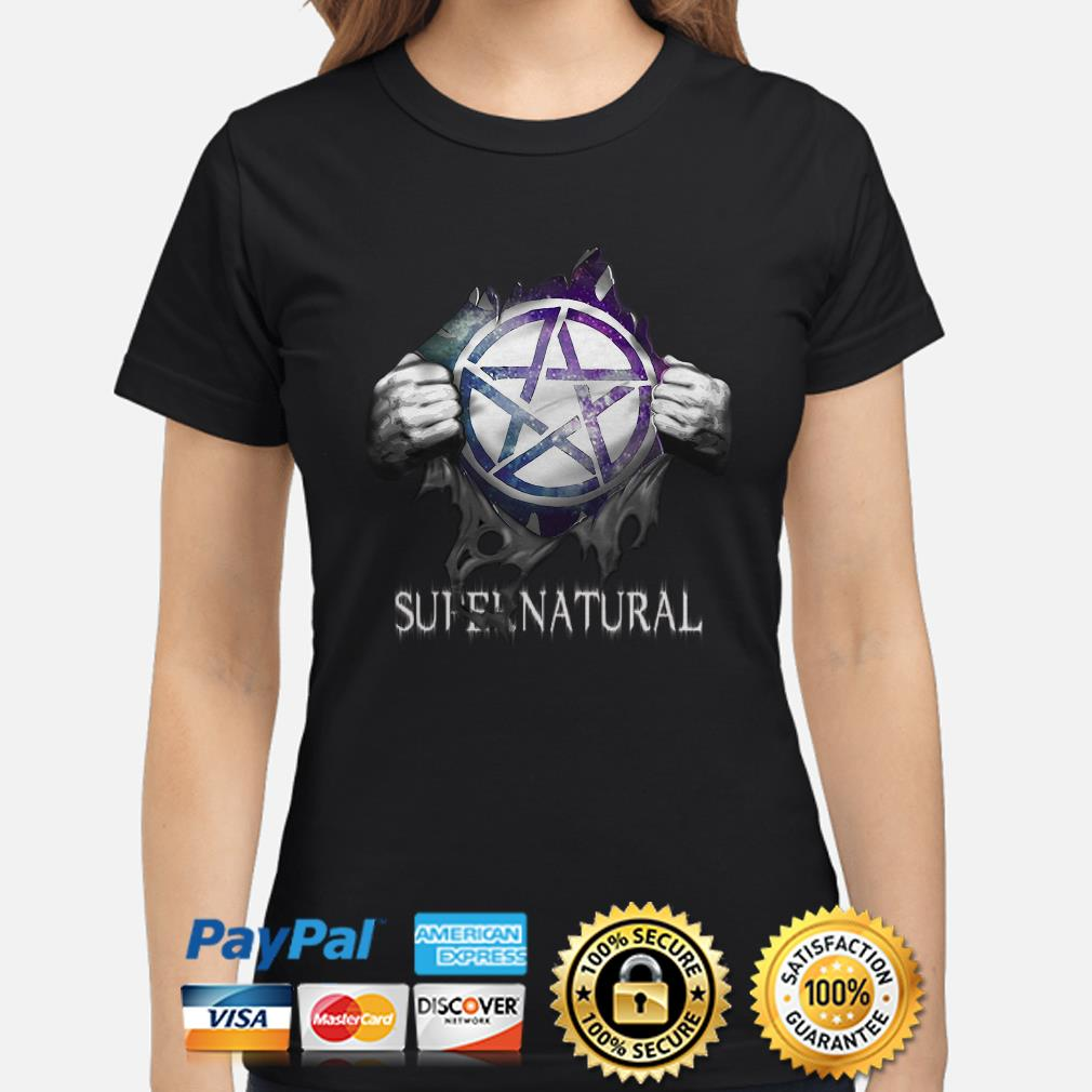 Supernatural Blood inside me Ladies shirt
