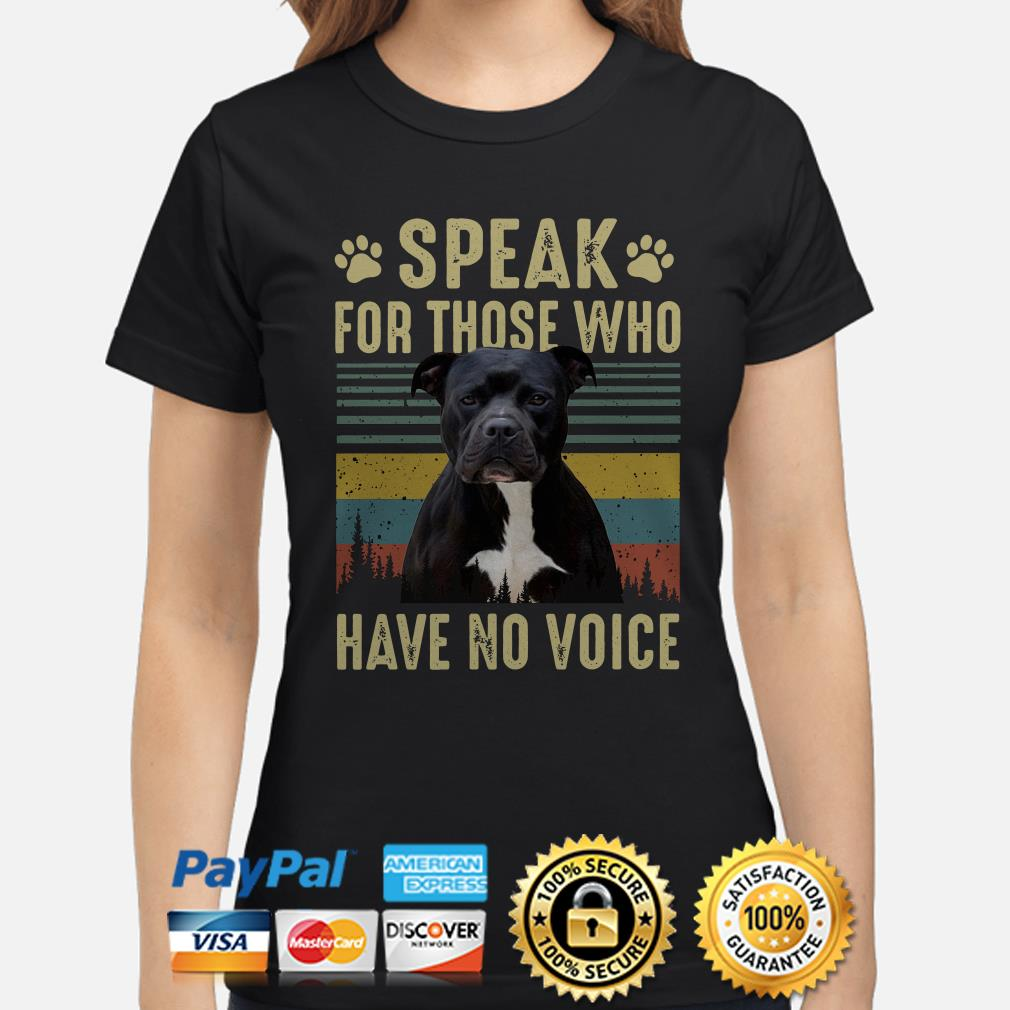 American Bully speak for those who have no voice vintage Ladies shirt