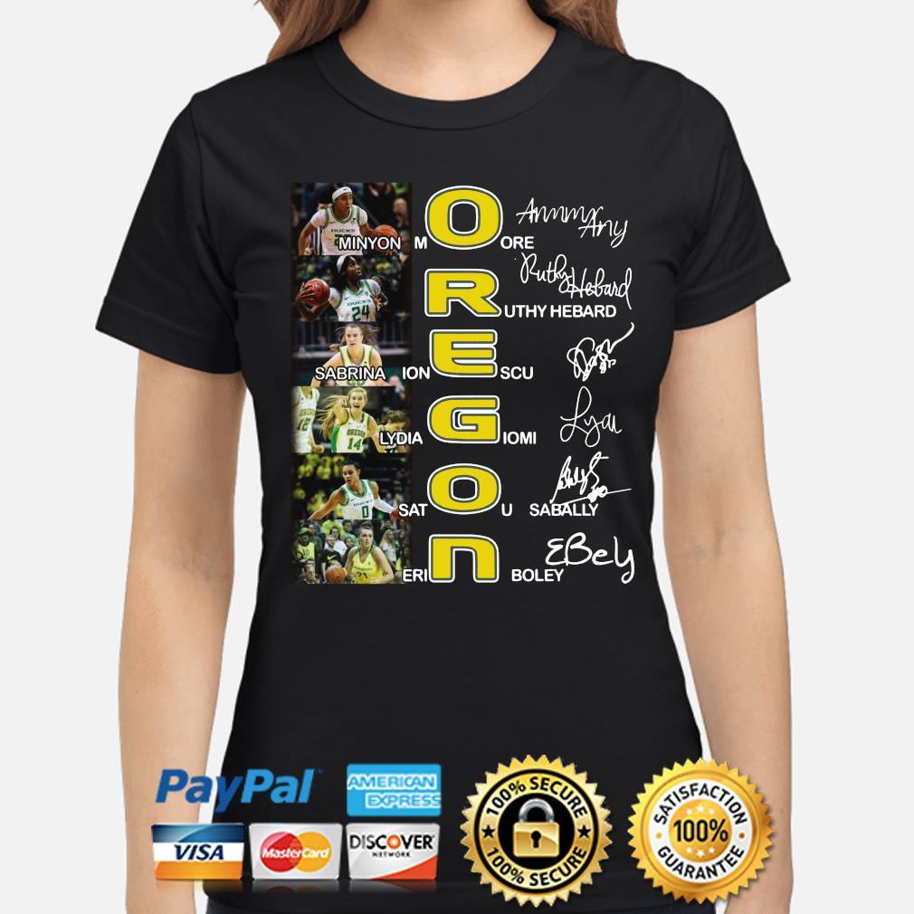 Oregon Minyon More Ruthy Hebard Sabrina Ionescu signature s ladies-shirt