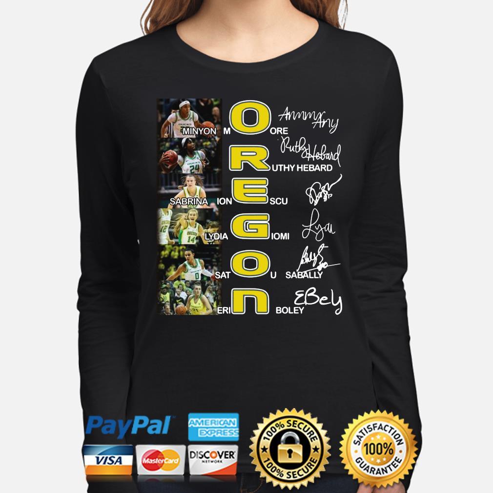 Oregon Minyon More Ruthy Hebard Sabrina Ionescu signature s long-sleeve