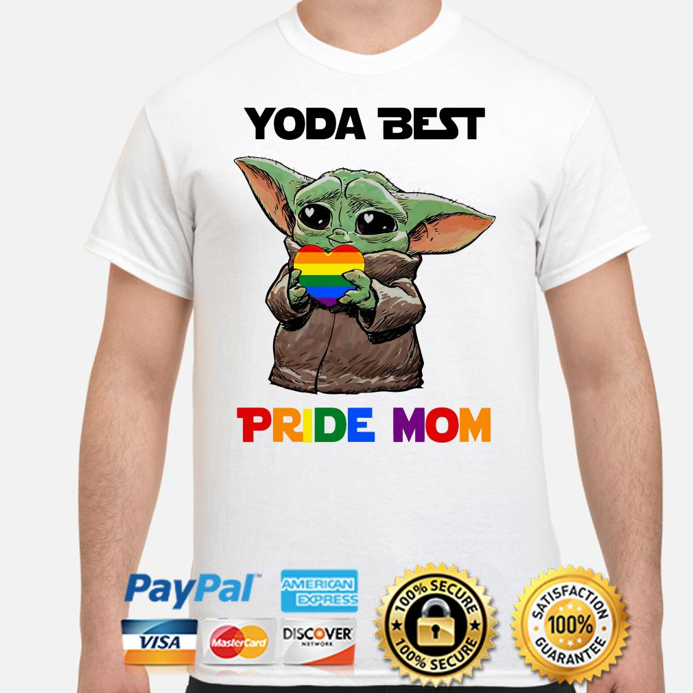 Baby Yoda best Pride mom shirt