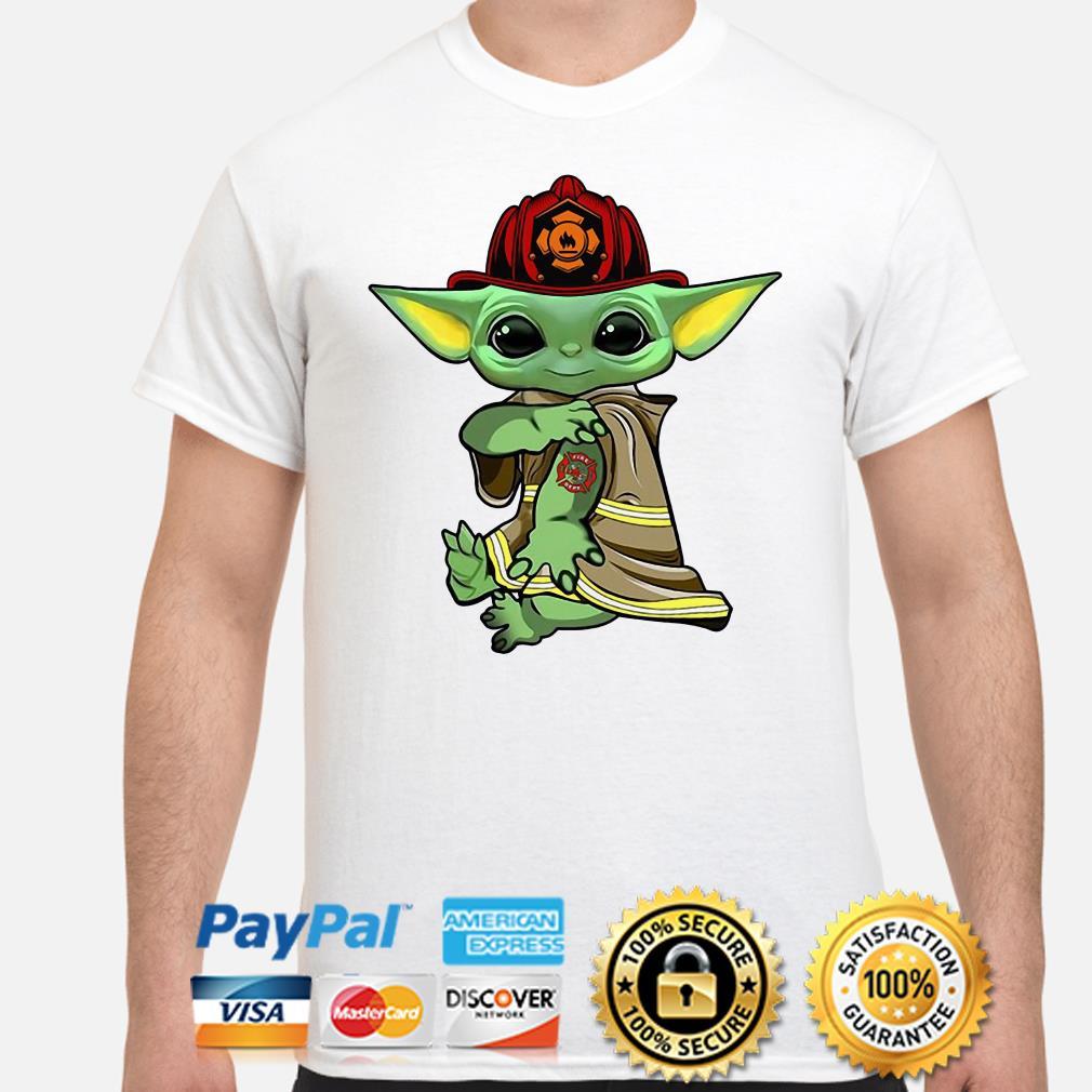 Baby Yoda Firefighter shirt