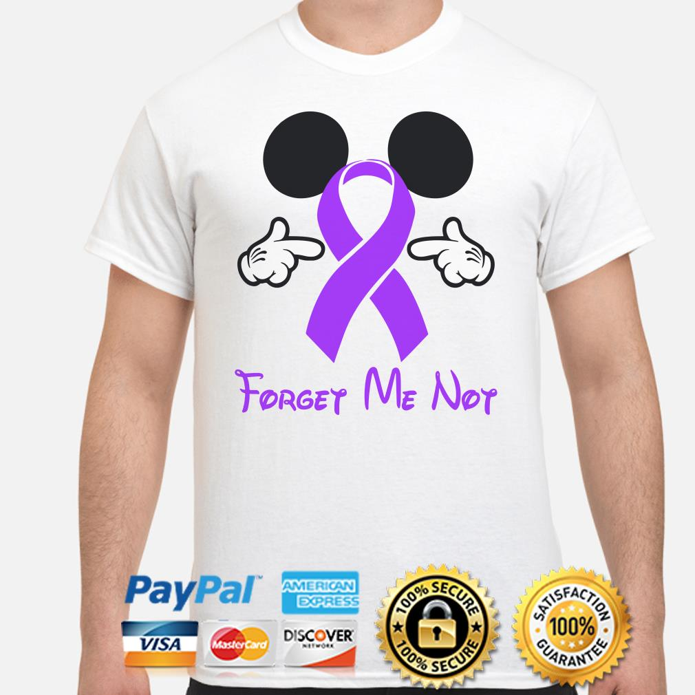 Cancer Ribbon Mickey Mouse forget me not shirt