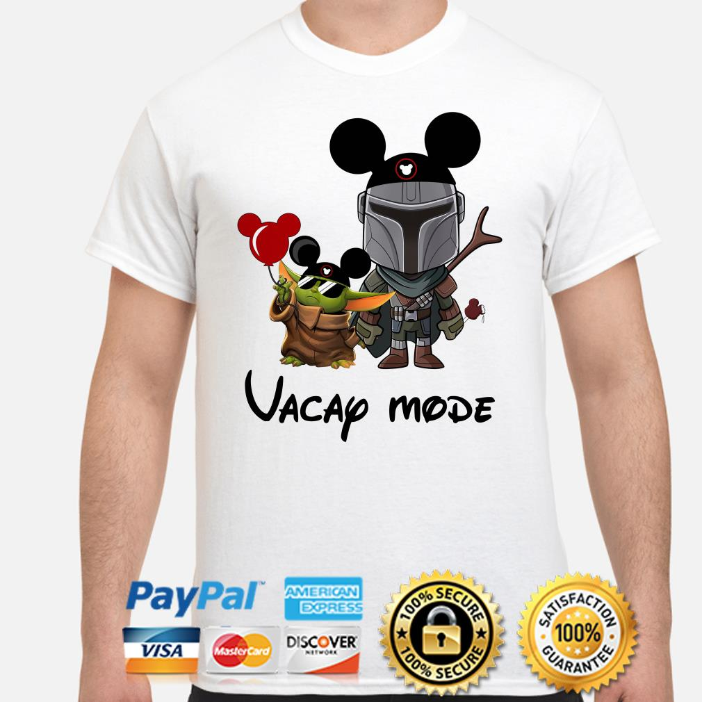 Mickey Baby yoda and Mandalorian Vacay mode shirt
