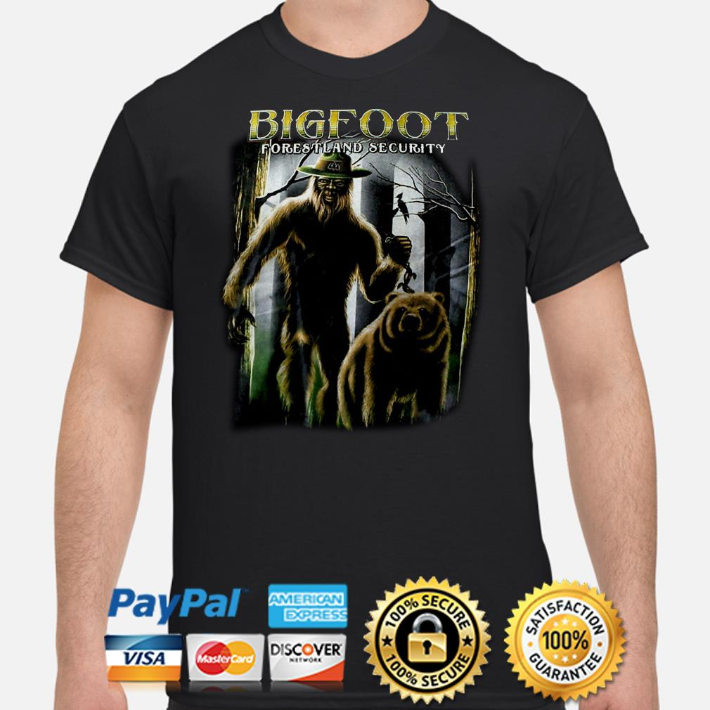 Bigfoot forestland security shirt