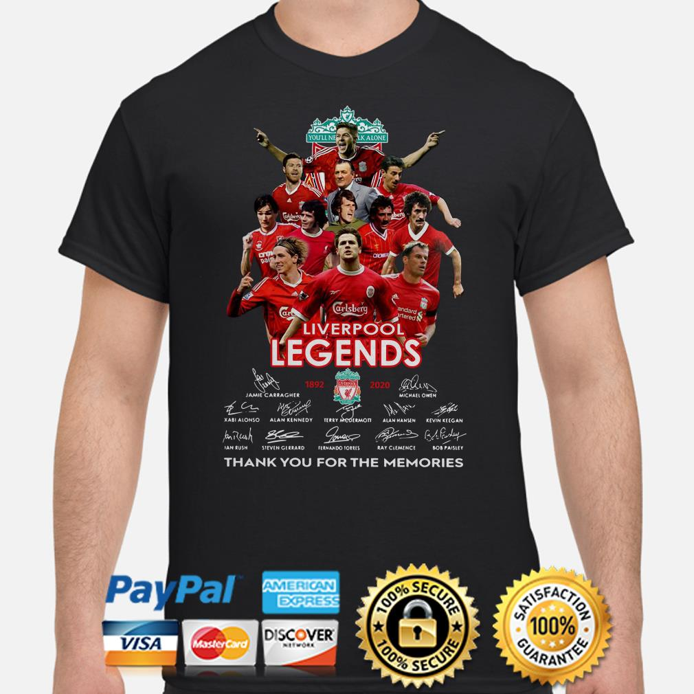 Liverpool Legends thank you for the memories signature shirt
