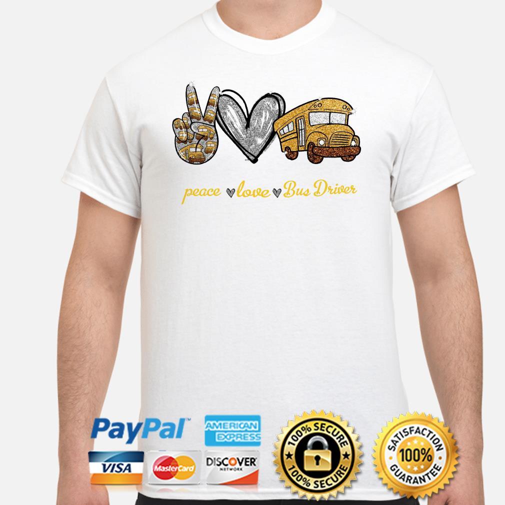 Peace love bus Driver diamonds shirt