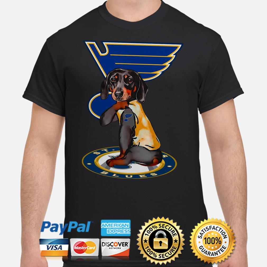 Tattoos Dachshund St Louis Blues shirt