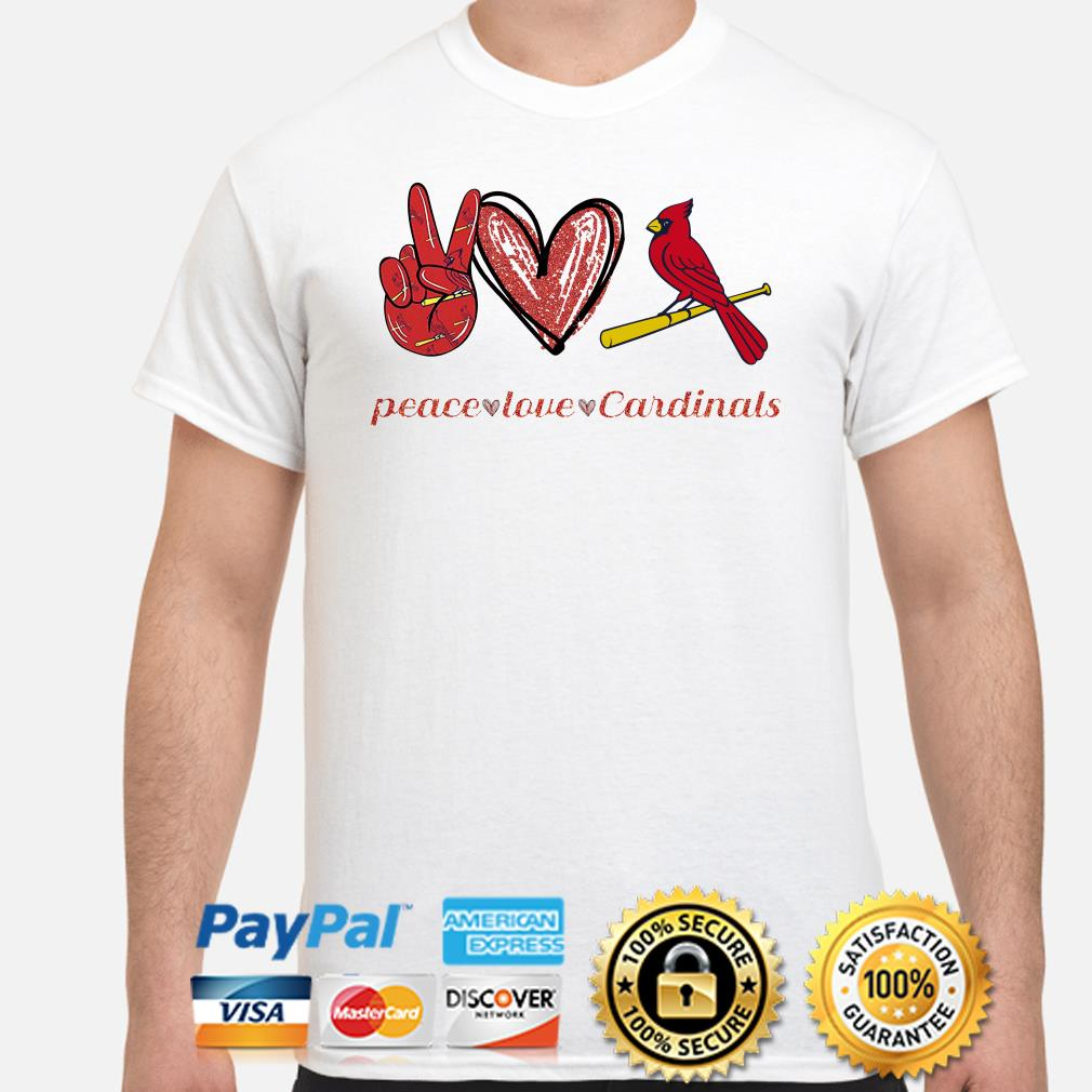 Peace love St Louis Cardinals shirt