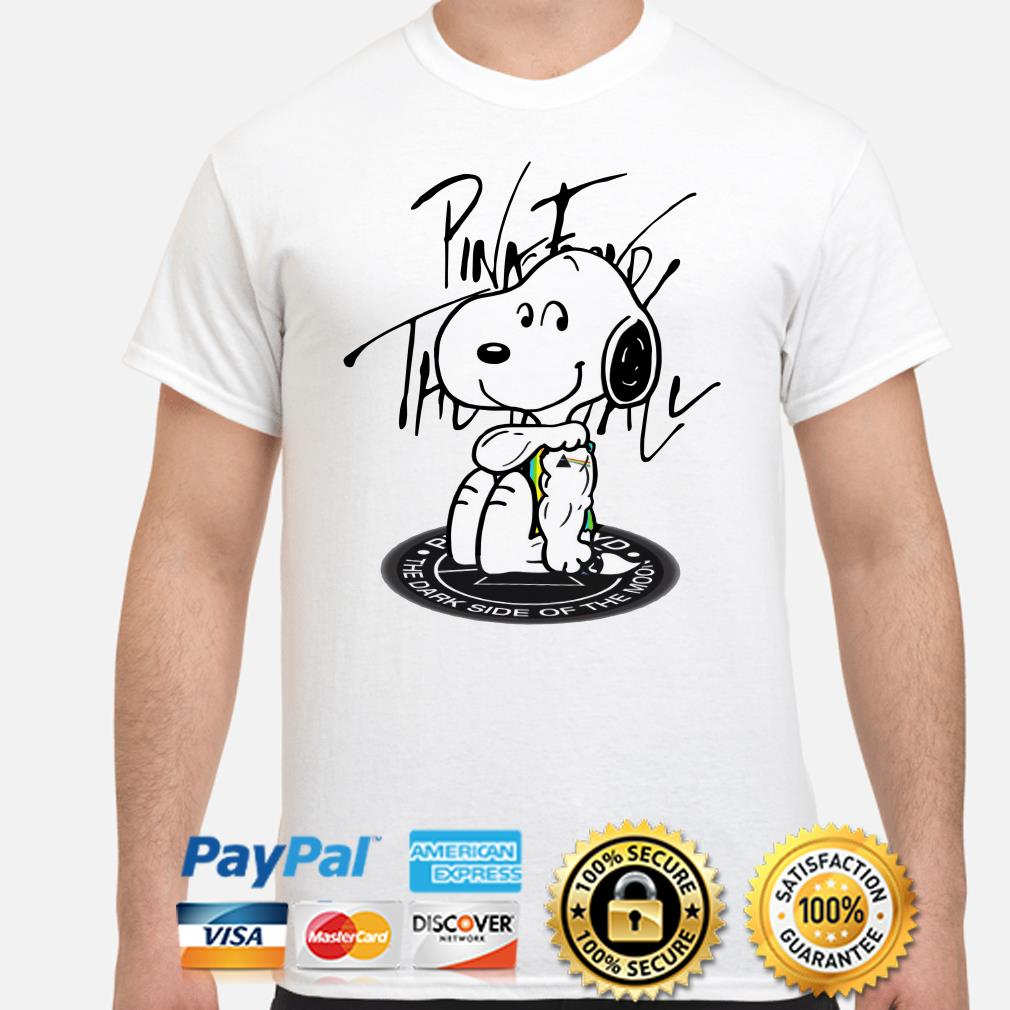 Tattoos Snoopy Pink Floyd the dark side of the moon shirt