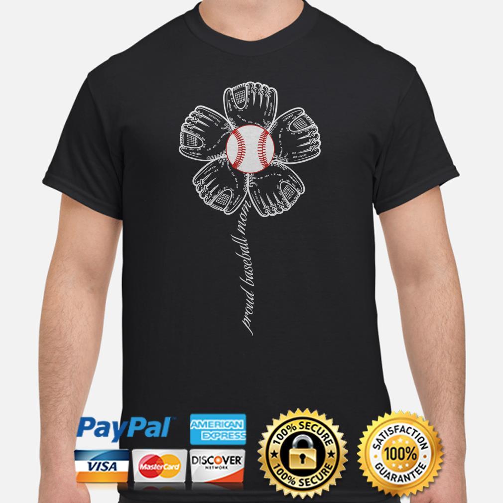 Sunflowers proud baseball mom shirt