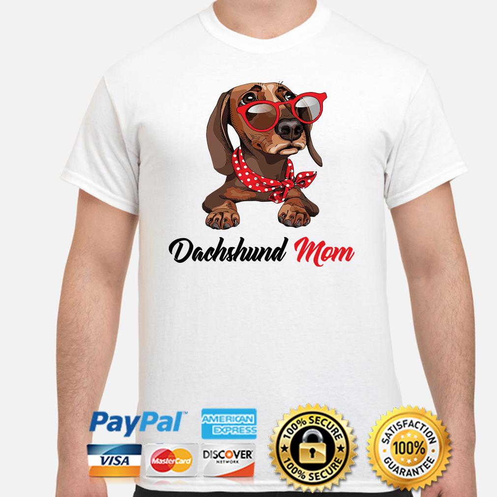 Dachshund mom bandana sunglass shirt