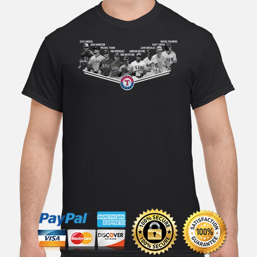 Texas Rangers Legends signature shirt