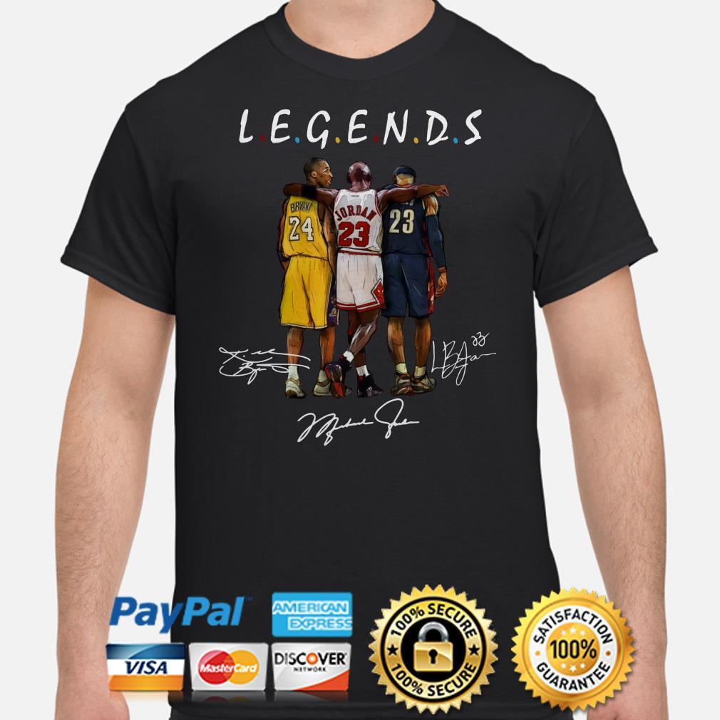 Kobe Bryant, Michael Jordan and LeBron James Legends Shirt
