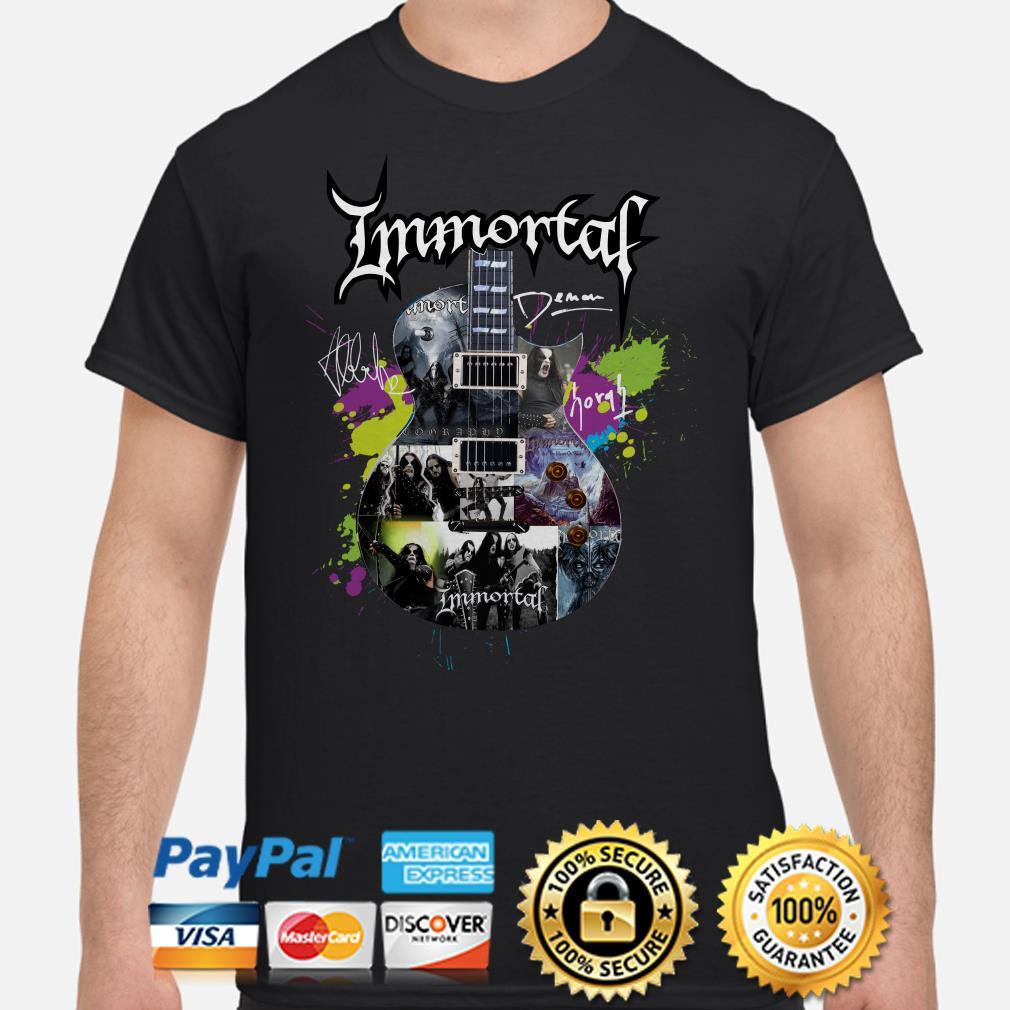 Immortal Guitar signature shirt