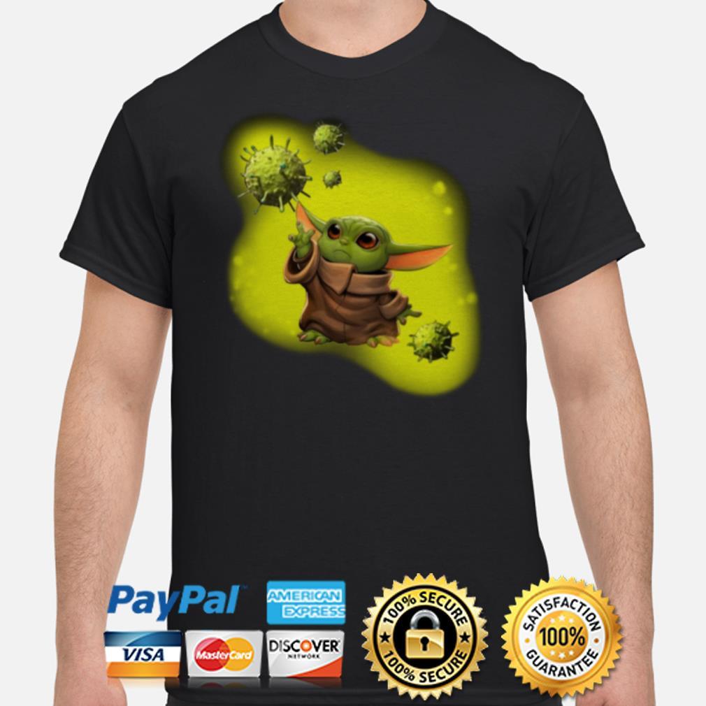 Baby Yoda against coronavirus shirt