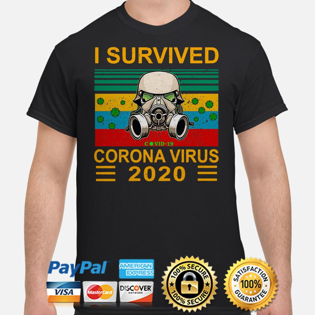 Stormtrooper I survived coronavirus 2020 vintage shirt
