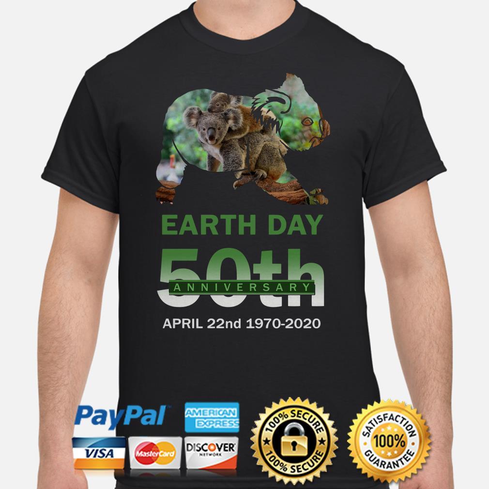 Koalas Earth day 50th anniversary April 22 2020 shirt