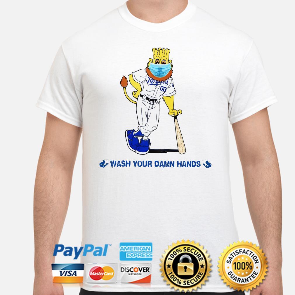 Kansas City Royals mascot wash your damn hands shirt