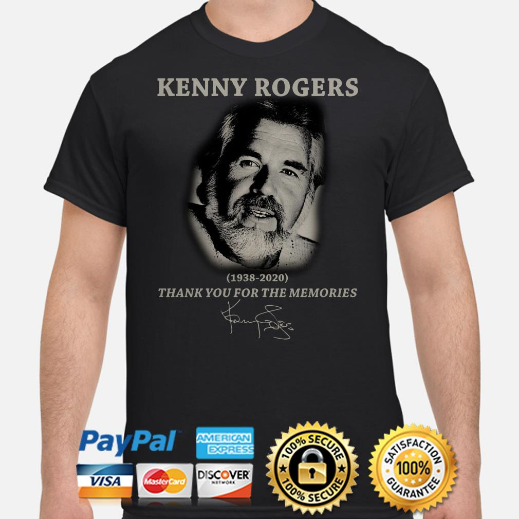 Kenny Rogers thank you for the memories signature shirt