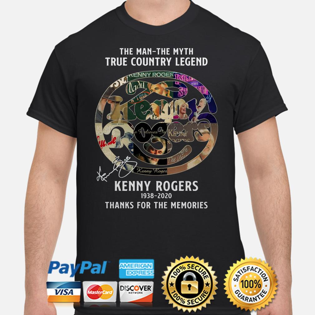 The man The myth The Legend Kenny Rogers thank you for the memories signature shirt