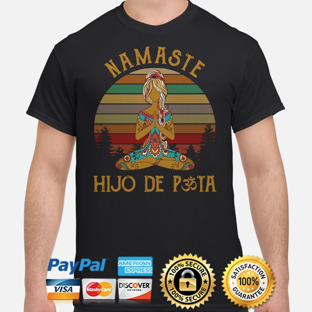 Yoga girl Namaste Hijo De Pasta vintage shirt