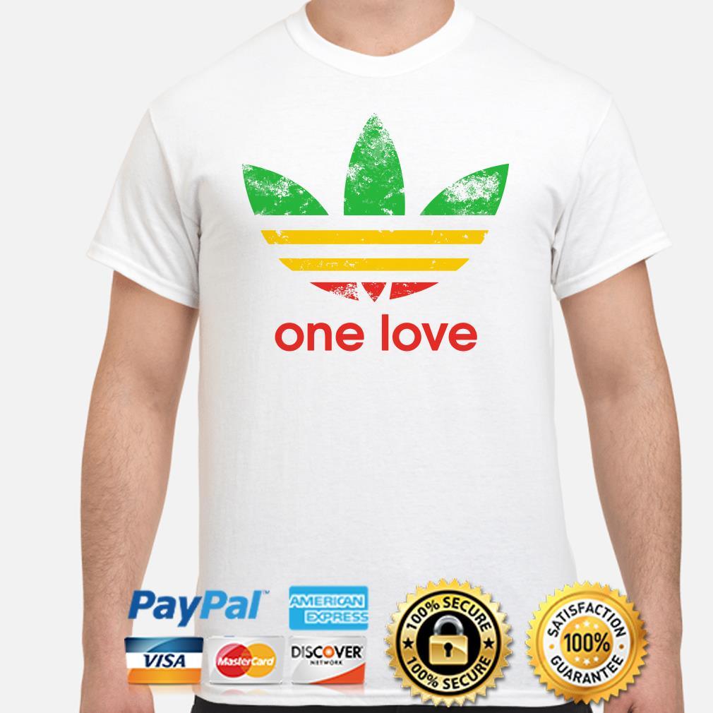 Adidas One love flag shirt
