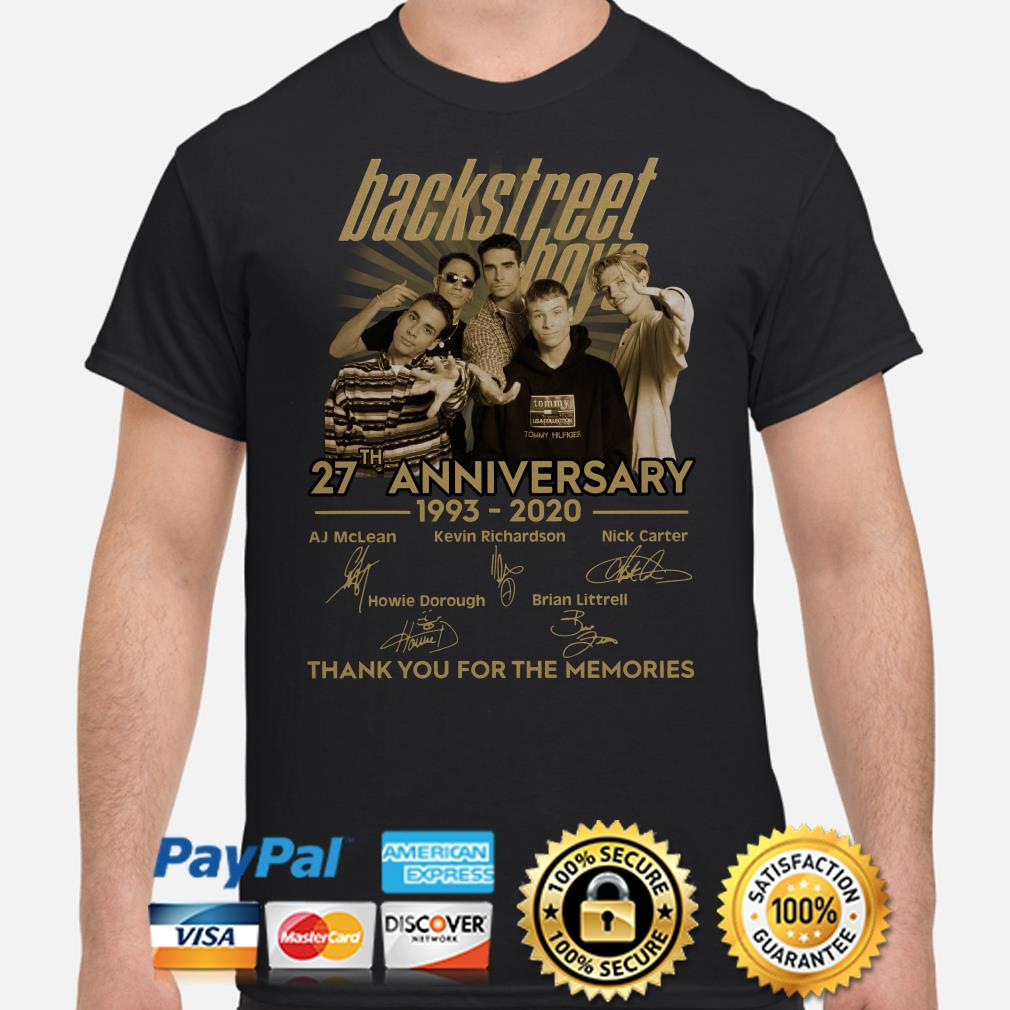 Backstreet Boys 27th anniversary thank you for the memories signature shirt