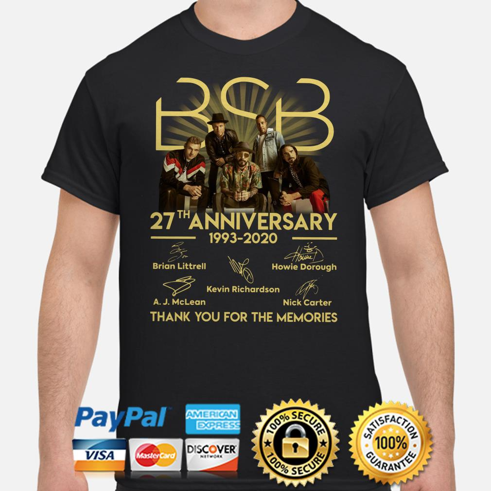 BSB 27th anniversary thank you for the memories signature shirt