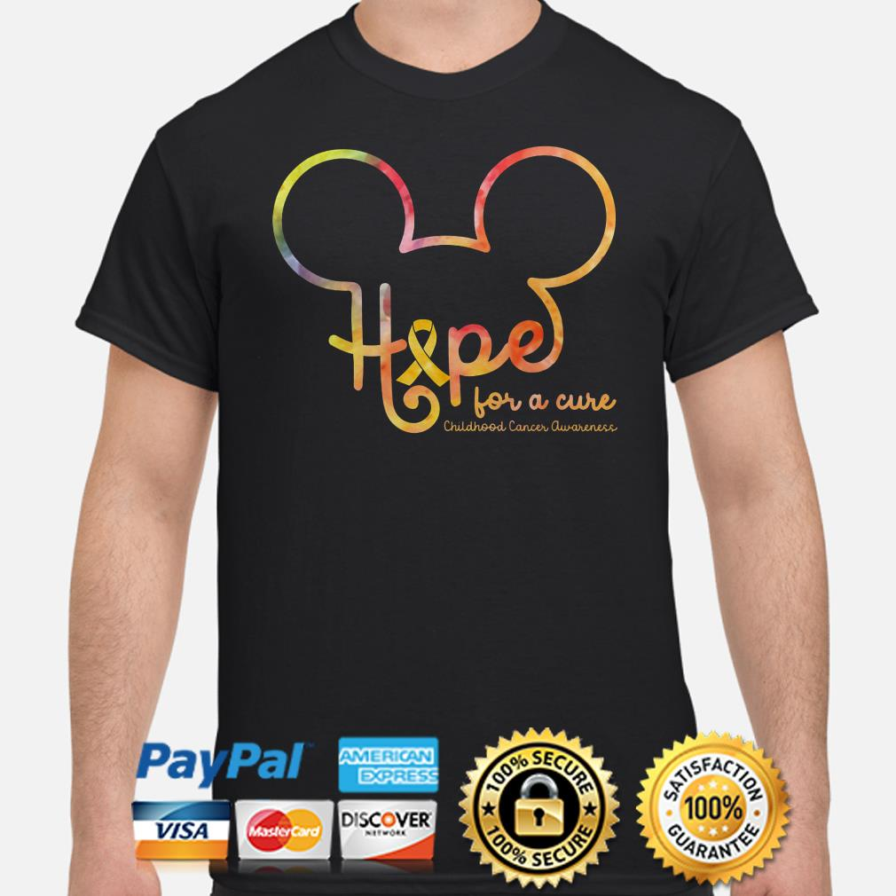 Mickey mouse hope for a cure Childhood cancer awareness shirt